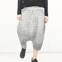 Мужские свободные брюки гарем из 100% хлопка