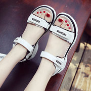 Women Opened Toe Hook Loop Casual Flat Sandals