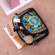 Damen National Style Flower Print Handytasche Schultertasche klein Crossbdy Taschen