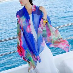 المرأة الربيع والصيف الطباعة المتضخم واقية من الشمس الشيفون والأوشحة شالات منشفة الشاطئ
