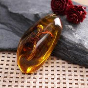 Vintage DIY Amber Orange Hornet Amber Pendant Insects DTY Jewelry Accessories