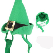 Green Christmas Cats Hats Pet Santa Hat Plush Dogs Cats Holiday Soft Costume Accessories