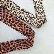 المرأة ليوبارد طباعة الكتف واسعة حزام الكتف طويل قابل للتعديل حزام