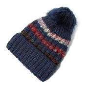 Женщины Зимние многоцветные трикотажные шапочки с шерстью Pom Pom Thicken Plush Inside Warm Hats
