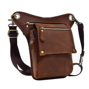 Vintage Vera Pelle Outdoor 8 Pollici Telefono Borsa Vita Borsa Crossbody Borsa For Men