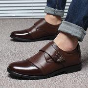 Мужчины Классический Цвет Блокировка Hook-Loop Бизнес Повседневные Кожаные Обуви