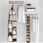 Non-woven Fabrics Three/Four/Five Layers Bag Hanging Storage Bag Wardrobe Closet Hanger Bags