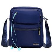 Men Nylon Large Capacity Waterproof Multi-pocket Shoulder Bag Crossbody Bag
