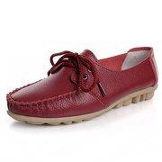 Модные кожаные повседневные туфли