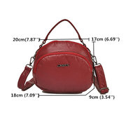 Women Double Layer Soft PU Leather Crossbody Bag Solid Multi-function Shoulder Bag