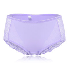 Lace Hip Lifting Comfortable Cotton Crotch Mid Waist Panties