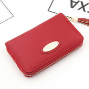 Women Elegant Faux Leather Small Short Zipper Wallet Card Holder Purse