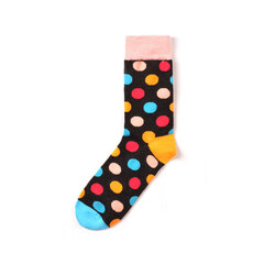 Man's Classic Wild Style Colorful Dot Tube Cotton Calze Casual Accogliente Calze
