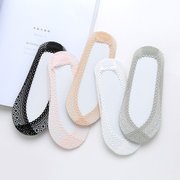 Women's Acrylic Multi-color Low Cut Thin Hidden Invisible Boat Socks Casual Comfortable Ankle Socks