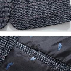 Mens British Style Taschen Knöpfe Plaid Design Qualität Langarm Slim Blazer