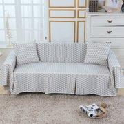 Espesar Mezcla de algodón Sofá Funda de sofá Funda de 1-4 plazas Cubiertas de la silla Protector para sala de estar