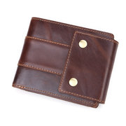 Cowhide Genuine Leather Vintage 11 Card Slot Wallet Multi-function Coin Purse For Men
