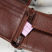 Men PU Leather High-end Solid Wallet Purse Business Wallet