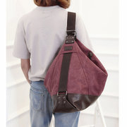 Multifunctional Canvas Casual Shoulder Bags Handbag Large Chest Bag Sling Bags Daily Bags For Women
