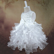 Lace Flower Baby Girls Princess Wedding Dress For 0-24M
