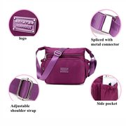 Women Waterproof Nylon Multi-pocket Crossbody Bags Shoulder Bags