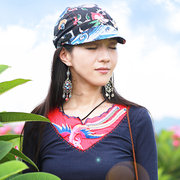 Women Vintage Ethnic Printing Baseball Caps Casual Visor Breathable Double-Sided Use Cap