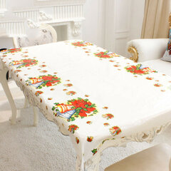 Christmas Disposable Tablecloth Festive Rectangle Oblong Table Cloth Tableware