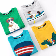 Animal Printed Boys Long Sleeve Tops T shirts For 2Y-11Y