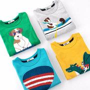 Top à imprimé animal T-shirt à manches longues pour garçon de 2-11 ans
