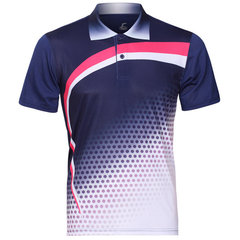 Summer Sports Training Golf Shirt Quick Drying Badminton Competizioni Suit For Men
