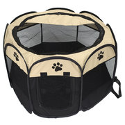Pet Dog Cat Tent Playpen Exercise Play Pen Soft Fence Cage Kennel Crate Folding