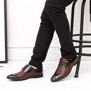 Scarpe stringate da uomo a punta piatta stile business