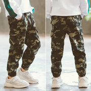 Boys' Pants, New Children's Camouflage Trousers, Big Children's Casual Version, Sports Pants
