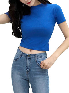Cotton Solid Color Short Sleeve O-neck T-shirts