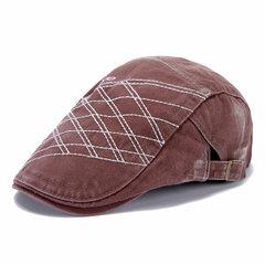 Men Denim Washing Beret Cap Casual Outdoor Sun Visor Peaked Hat