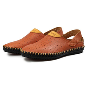 Männer Hollow Out Handstitching Breathable Lazy Casual Schuhe Soft Loafers