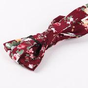 Noeud Papillon en Coton à Imprimé Décontracté Ajustable pour Mariage Soirée pour Homme