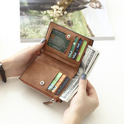 Vintage Multi-slots PU Leather Card Holder Small Wallet Purse For Women