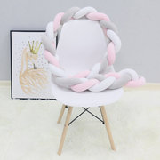 2.3m Nordic Long Knotted Knotted Knotted Knots Cojín Decorativo Baby Bumper Crib Bed Protector
