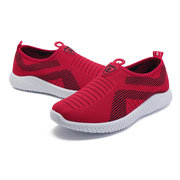 Mesh Breathable Sport Slip On Casual Shoes For Women