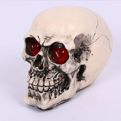 LED Eyes Homosapiens Skull Human Skeleton Head Halloween Prop Decor
