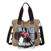 Women Large Capacity Canvas Multi-pocket Shoulder Bags Crossbody Bag Casual Handbags