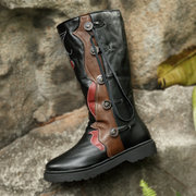 LOSTISY Splicing Warm Lined Mid Calf Boots