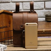 5.5inches Smart Phone PU Leather Waist Bag Crossbody Bag For Men