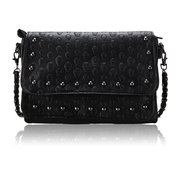 Women Punk Skull Black Crossbody Bag