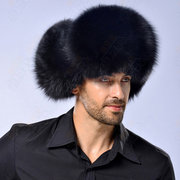 Mens Winter Warm Thick Artificial Mink Hats With Ear Flaps Bomber Leather Hat Russian Hat