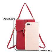 Women PU Leather Touch Screen 5.5 Inch Phone Bags Tassel Crossbody Bags