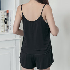 Womens Modal Cotton Casual Solid Color Comfort Sleeveless Sleepwear Suits