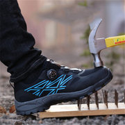 Men Steel Toe Anti Smashing Puncture Proof Safety Shoes