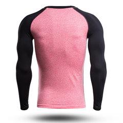 Мужская повседневная контрастная цветная печать Фитнес Плотная футболка Дышащая удобная спортивная футболка